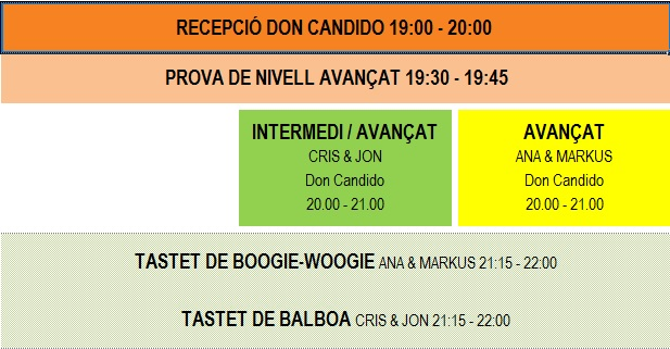 classes divendres